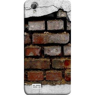 FUSON Designer Back Case Cover For Vivo Y31 :: Vivo Y31L (Peeling Plaster Bricks White Cement Broken Small Big)
