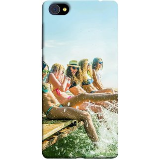 FUSON Designer Back Case Cover For Vivo X5Pro :: Vivo X5 Pro (Group Of Happy Young Woman Feet Splash Water In Sea)