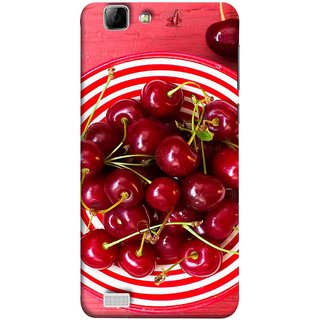 FUSON Designer Back Case Cover For Vivo X3S (Plump Dark Red Farm Fresh Very Tasty )