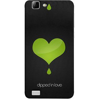 FUSON Designer Back Case Cover For Vivo X3S (I Am In Love You Very Much Hearts Kiss Together )