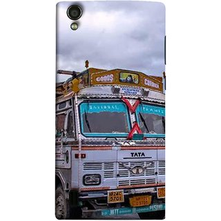 FUSON Designer Back Case Cover For Vivo Y15S :: Vivo Y15 (Decorated Goods Carrier On Mountain Road In The Himalayas )