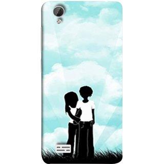 FUSON Designer Back Case Cover For Vivo Y31 :: Vivo Y31L (Boyfriend Girlfriend Together Always Evening Life)
