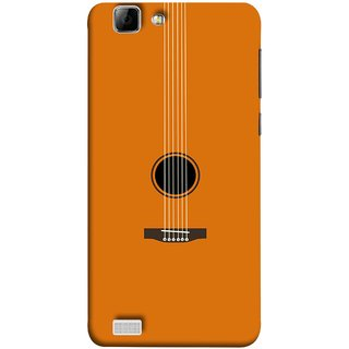 FUSON Designer Back Case Cover For Vivo X3S (Musical Instrument Vintage Bass Music Lovers Play)