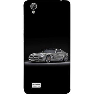 FUSON Designer Back Case Cover For Vivo Y31 :: Vivo Y31L (Road Black White Clouds Beautiful Road Blue Side Mirror)