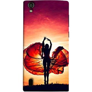 FUSON Designer Back Case Cover For Vivo Y15S :: Vivo Y15 (Beautiful Female Dancer Silhouette In The Sun )