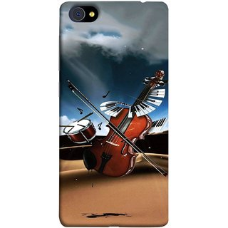 FUSON Designer Back Case Cover For Vivo X7 Plus (Musical Instrument Vintage Bass Music Lovers Play)