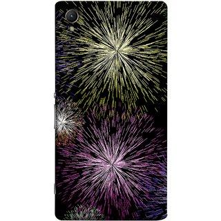 FUSON Designer Back Case Cover For Sony Xperia Z1 :: Sony Xperia Z1 L39h :: Sony Xperia Z1 C6902/L39h :: Sony Xperia Z1 C6903 :: Sony Xperia Z1 C6906 :: Sony Xperia Z1 C6943  (Dark Night Fireworks Diwali Dipawali Flowers )
