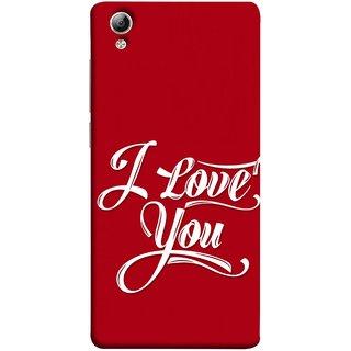 FUSON Designer Back Case Cover For Vivo Y51 :: Vivo Y51L (I Love You Always Lovers Valentine Hearts Kiss )