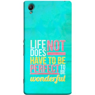 FUSON Designer Back Case Cover For Sony Xperia Z1 :: Sony Xperia Z1 L39h :: Sony Xperia Z1 C6902/L39h :: Sony Xperia Z1 C6903 :: Sony Xperia Z1 C6906 :: Sony Xperia Z1 C6943  (To Be Wonderful Inspirational Quotes Life Green Back)