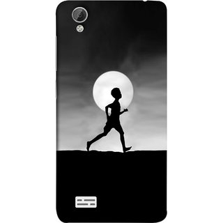 FUSON Designer Back Case Cover For Vivo Y31 :: Vivo Y31L (Halloween Vector Illustration Background Full Moon )