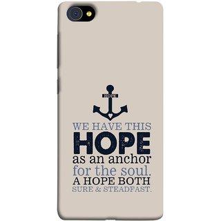 FUSON Designer Back Case Cover For Vivo X7 Plus (A Hope Both Sure And Steadfast Deep Sea Anchor Ship)