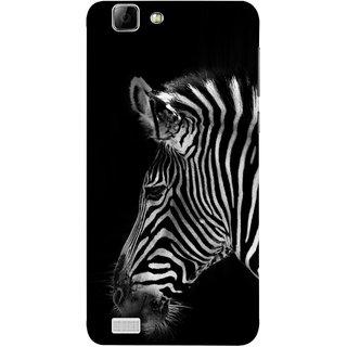 FUSON Designer Back Case Cover For Vivo X3S (Close Up Portrait Of A Baby Zebra Long Ears Strips)