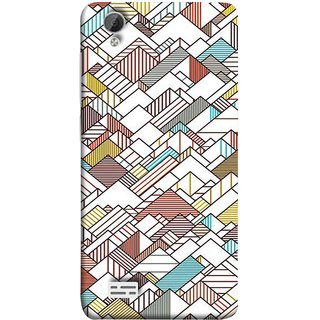 FUSON Designer Back Case Cover For Vivo Y31 :: Vivo Y31L (Watercolor Horizontal Vertical Vector Lines Colourful)