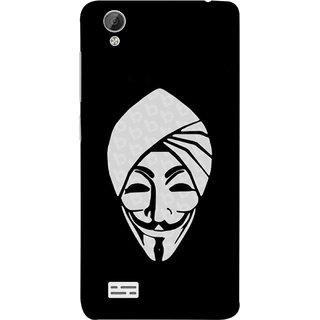 FUSON Designer Back Case Cover For Vivo Y31 :: Vivo Y31L (Vector Illustration Turban Headdress And Mustache Isolated)