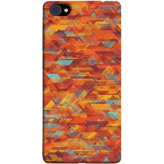 FUSON Designer Back Case Cover For Vivo X7 Plus (Geometric Watercolour Art Print Pink Bright)