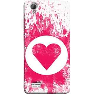 FUSON Designer Back Case Cover For Vivo Y31 :: Vivo Y31L (Pink Red Wallpapers Flowers Lovers Boyfriends Black)