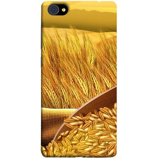 FUSON Designer Back Case Cover For Vivo X7 Plus (Wheat Farmers Farms Morning Sunlight Bright Day)