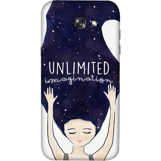 FUSON Designer Back Case Cover For Samsung Galaxy A3 2017 (Girls With Long Hairs See Universe Milky Way Stars )
