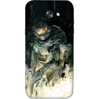 FUSON Designer Back Case Cover For Samsung Galaxy A3 2017 (Army War Secret Missions Country Saver Fighter)