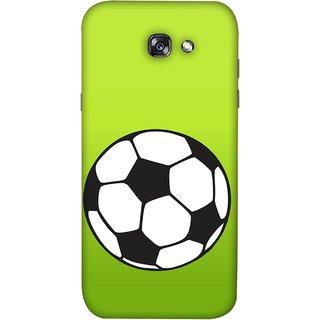 FUSON Designer Back Case Cover For Samsung Galaxy A5 2017 (Football Ground Ball Black White Fifa League )