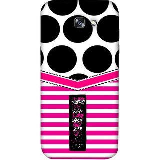 FUSON Designer Back Case Cover For Samsung Galaxy A3 2017 (Beautiful Cute Nice Couples Pink Design Paper Girly I)
