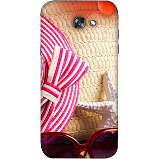 FUSON Designer Back Case Cover For Samsung Galaxy A5 2017 (Tropical Beach In Summer Holiday Toy Table )