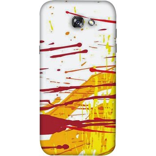 Fuson Designer Back Case Cover For Samsung Galaxy A5 2017 Artwork Acid Bright Wallpaper Yellow Shades