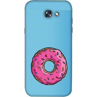 FUSON Designer Back Case Cover For Samsung Galaxy A5 2017 (Cute Food Strawberry Sprinkle Donut Mini Painting)