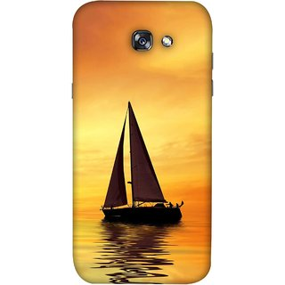 FUSON Designer Back Case Cover For Samsung Galaxy A5 2017 (Sailing Ships Sailboats Ocean Pond Sea River)