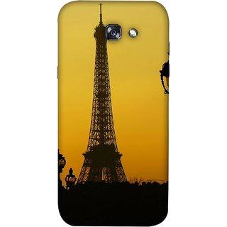 FUSON Designer Back Case Cover For Samsung Galaxy A5 2017 (Bridge Eiffel Tower France Paris Ornate Lamp)