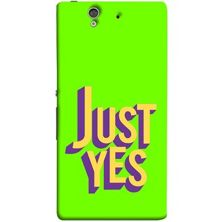 FUSON Designer Back Case Cover For Sony Xperia Z :: Sony Xperia ZC6603 :: Sony Xperia Z L36h C6602 :: Sony Xperia Z LTE, Sony Xperia Z HSPA+ (Just Green Say Always To Problems Solve Resolve)