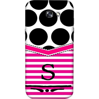 FUSON Designer Back Case Cover For Samsung Galaxy A7 2017 (Beautiful Cute Nice Couples Pink Design Paper Girly S)