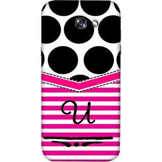 FUSON Designer Back Case Cover For Samsung Galaxy A5 2017 (Beautiful Cute Nice Couples Pink Design Paper Girly U)