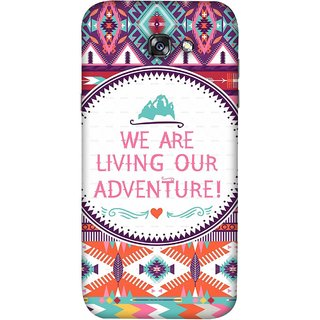 FUSON Designer Back Case Cover For Samsung Galaxy A7 2017 (Colourful Wallpaper Best Quotes Bright Wall Design)