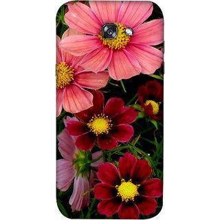 FUSON Designer Back Case Cover For Samsung Galaxy A7 2017 (Flower Grass Green Small Nice Colourful Gerbera )