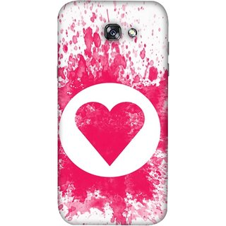 FUSON Designer Back Case Cover For Samsung Galaxy A7 2017 (Pink Red Wallpapers Flowers Lovers Boyfriends Black)