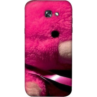 FUSON Designer Back Case Cover For Samsung Galaxy A7 2017 (Best Gift For Valentine Friends Lovers Couples Baby Pink Red )
