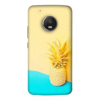 FUSON Designer Back Case Cover For Motorola Moto G5 Plus (Light Yellow Cream Pineapple Lamp Ananas)