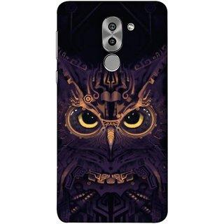 FUSON Designer Back Case Cover For Huawei Honor 6X (Big Eye Danger Perfect Owl Bird Mysterious)