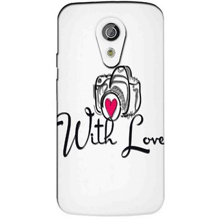Snooky Printed With Love Mobile Back Cover of Moto G2 - Multicolour