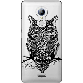 Snooky Printed Owl Mobile Back Cover of LYF Water 7 - Multicolour