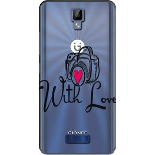 Snooky Printed With Love Mobile Back Cover of Gionee P7 Max - Multicolour