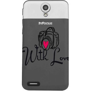 Snooky Printed With Love Mobile Back Cover of InFocus M260 - Multicolour