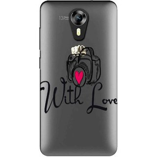 Snooky Printed With Love Mobile Back Cover of Micromax Canvas Express 2 E313 - Multicolour