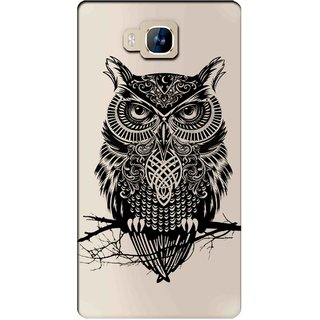 Snooky Printed Owl Mobile Back Cover of LYF Wind 2 - Multicolour