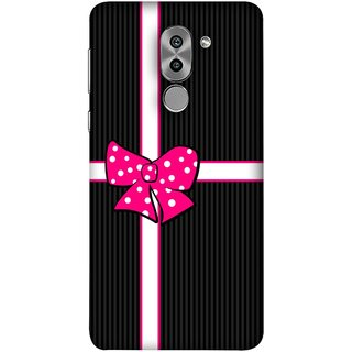 FUSON Designer Back Case Cover For Huawei Honor 6X (Gift Box Wrapped In Black And White Striped Paper)