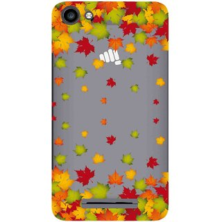 cheap for discount 4c336 593a5 Snooky Printed Leaf Mobile Back Cover of Micromax Canvas Spark 2 Plus Q350  - Multicolour