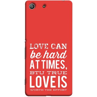FUSON Designer Back Case Cover For Sony Xperia Z3 Compact :: Sony Xperia Z3 Mini (Love Is Worth The Effort Pure Lovers Hearts)