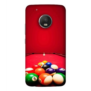 FUSON Designer Back Case Cover For Motorola Moto G5 Plus (Billards Pool Game Color Balls In Triangle Aiming)
