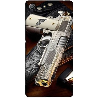 FUSON Designer Back Case Cover For Sony Xperia Z3 Compact :: Sony Xperia Z3 Mini (Gun Pouch Holder Loading Bullets Killing Murders )